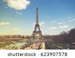 eiffel tower. | Shutterstock . vector #623907578