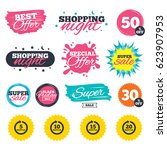 sale shopping banners. special...   Shutterstock .eps vector #623907953