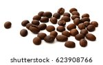 four coffees beans in top view  ... | Shutterstock . vector #623908766