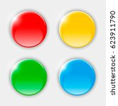 color buttons. round realistic... | Shutterstock . vector #623911790