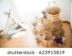 recreation rooms interior and...   Shutterstock . vector #623915819