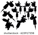 illustration of black... | Shutterstock . vector #623917358