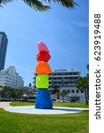 miami beach  usa   april 1 ... | Shutterstock . vector #623919488