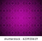 luxury purple background with... | Shutterstock .eps vector #623920619