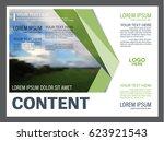 presentation layout design... | Shutterstock .eps vector #623921543