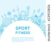sport and fitness background....