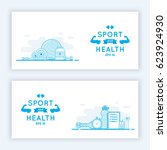 sport and fitness banners....
