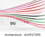 vector color stripes  wave... | Shutterstock .eps vector #623927390