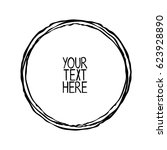 round frame. your text here.... | Shutterstock .eps vector #623928890