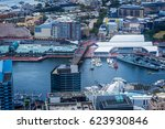 aerial view of darling harbour... | Shutterstock . vector #623930846