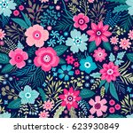 amazing seamless floral pattern ... | Shutterstock .eps vector #623930849