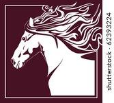 horse vector | Shutterstock .eps vector #62393224