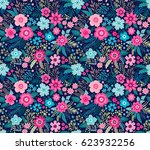 amazing seamless floral pattern ... | Shutterstock .eps vector #623932256