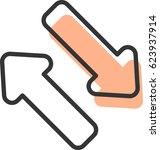 double arrow icon vector