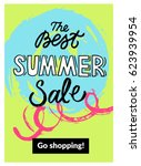 summer mobile sale banner.... | Shutterstock .eps vector #623939954