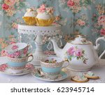 vintage afternoon tea party  ... | Shutterstock . vector #623945714