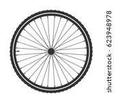 bicycle wheel symbol vector.... | Shutterstock .eps vector #623948978
