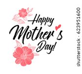 happy mothers day greeting card.... | Shutterstock .eps vector #623951600