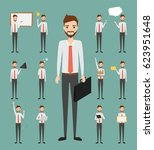 set of business man character.... | Shutterstock .eps vector #623951648