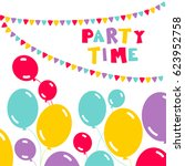 Balloons  Party Flags And...