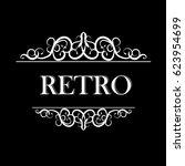 vintage vector swirl frame   Shutterstock .eps vector #623954699