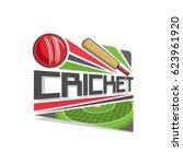vector logo for cricket game ... | Shutterstock .eps vector #623961920