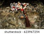 meditation mala necklace.... | Shutterstock . vector #623967254