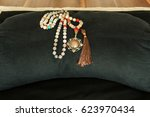 meditation cushion with... | Shutterstock . vector #623970434
