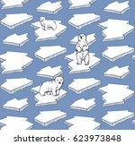 seamless pattern with hand... | Shutterstock .eps vector #623973848