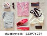 set of men's clothes consist of ...   Shutterstock . vector #623976239