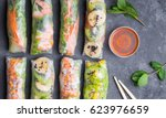 fresh assorted asian spring... | Shutterstock . vector #623976659