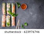 top view of fresh assorted... | Shutterstock . vector #623976746
