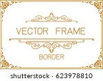 gold photo frame with corner... | Shutterstock .eps vector #623978810