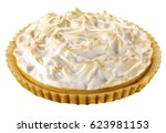 lemon meringue pie cut out | Shutterstock . vector #623981153