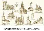 Set Of Old Country Churches....