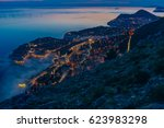 aerial view of old town... | Shutterstock . vector #623983298