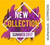 new arrivals and summer... | Shutterstock .eps vector #623984243