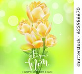 happy mothers day. lettering. ... | Shutterstock .eps vector #623986670