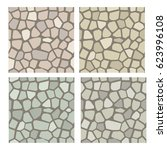 stone texture set. stones for... | Shutterstock .eps vector #623996108