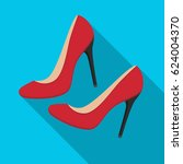 shoes with stiletto heel icon... | Shutterstock .eps vector #624004370