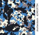 seamless digital pixel blue...