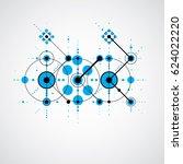 bauhaus blue abstract... | Shutterstock . vector #624022220
