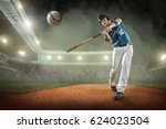 baseball players in action on... | Shutterstock . vector #624023504