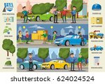 car insurance cases infographic ... | Shutterstock .eps vector #624024524