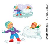 vector winter illustration of...   Shutterstock .eps vector #624033560