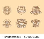 coffee badge food thin line... | Shutterstock .eps vector #624039683