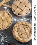 making a pie. ingredients flat ... | Shutterstock . vector #624039758