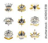 flowers  royal symbols  floral... | Shutterstock . vector #624041558