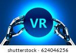 virtual and augmented reality... | Shutterstock .eps vector #624046256