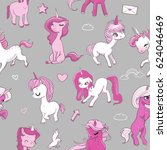 seamless pattern with pink... | Shutterstock .eps vector #624046469